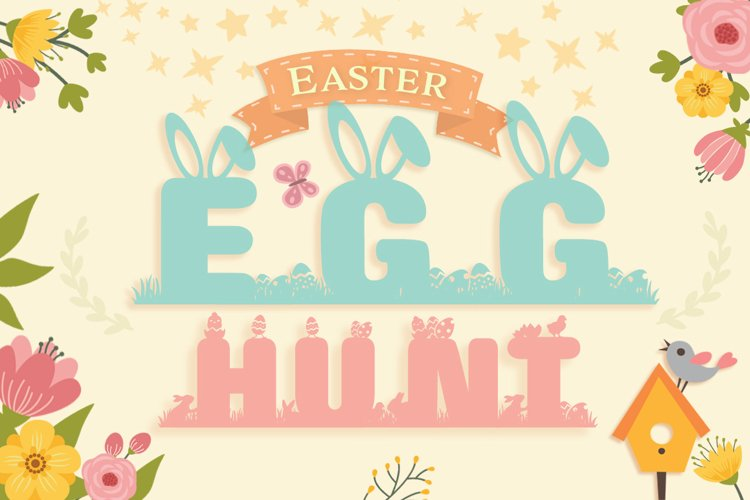 Easter Special Easter Egg Hunt Font example image 1