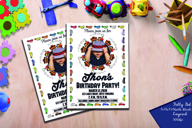 Kids Birthday Invitation  example image 1