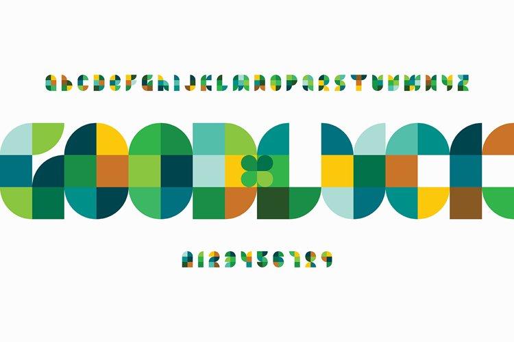 Colorful geometric vector font