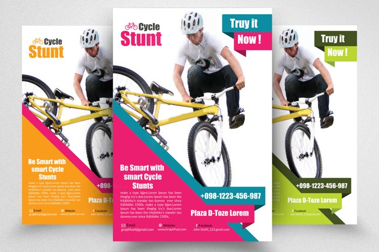 Bicycle Racing Competitions Flyer Poster Template example image 1