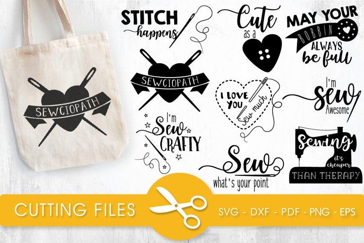 Sewing svg bundle cutting files svg, dxf, pdf, eps, png - Free Design of The Week Font
