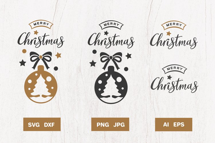 Christmas design SVG with handmade quote example image 1