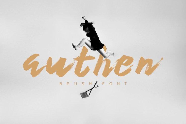 Authen Brush Font example image 1