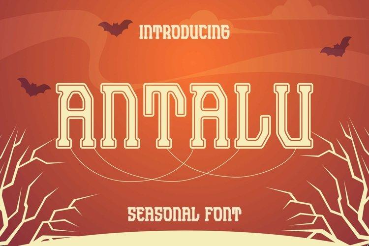 Web Font Antalu Font example image 1