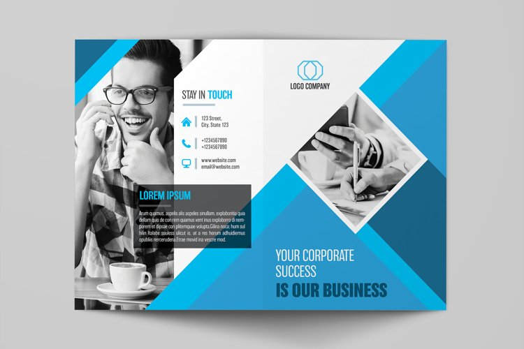 Business Bifold Brochure Template example image 1