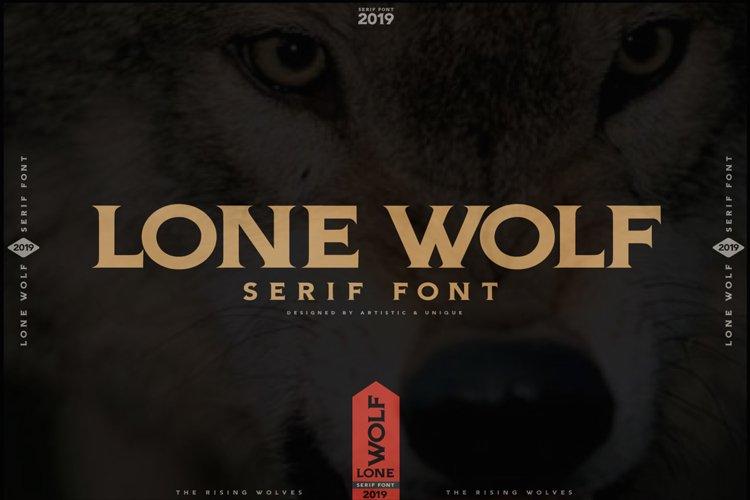 LONE WOLF Serif font example image 1