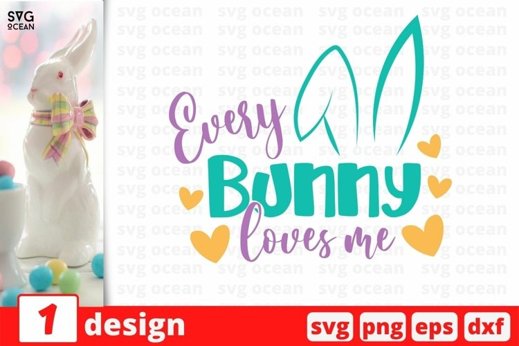 Easter Bunny SVG Cut File | Easter cricut | Easter eggs example image 1