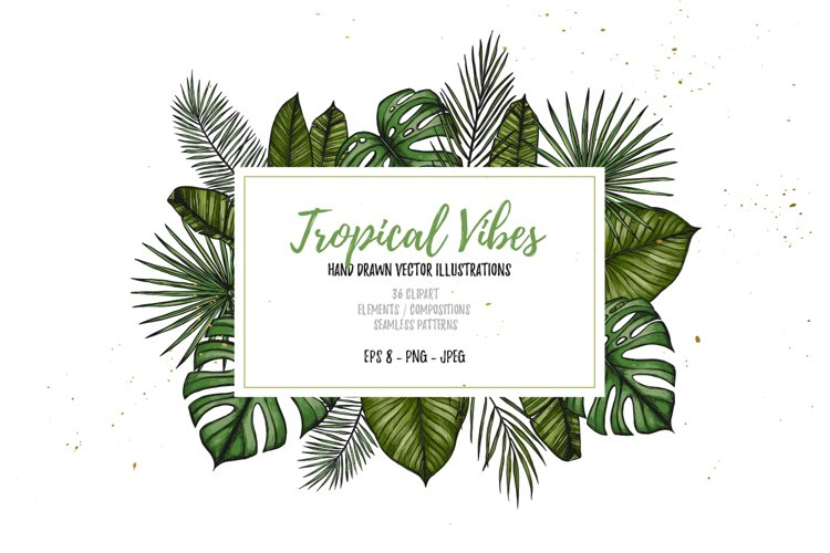 Tropical Vibes. Sketch vectors example image 1