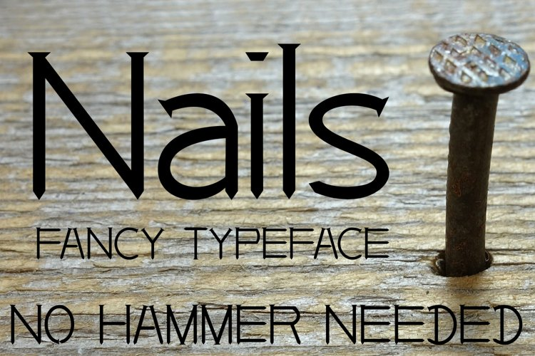 EP Nails - Fancy Typeface