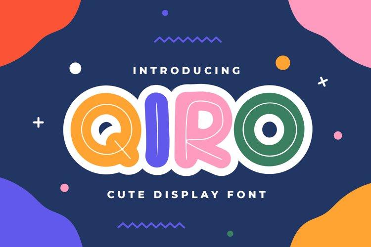 Qiro - Display Font example image 1