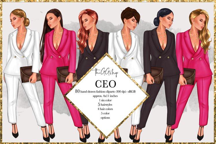 Fashion Girlboss Clipart example image 1