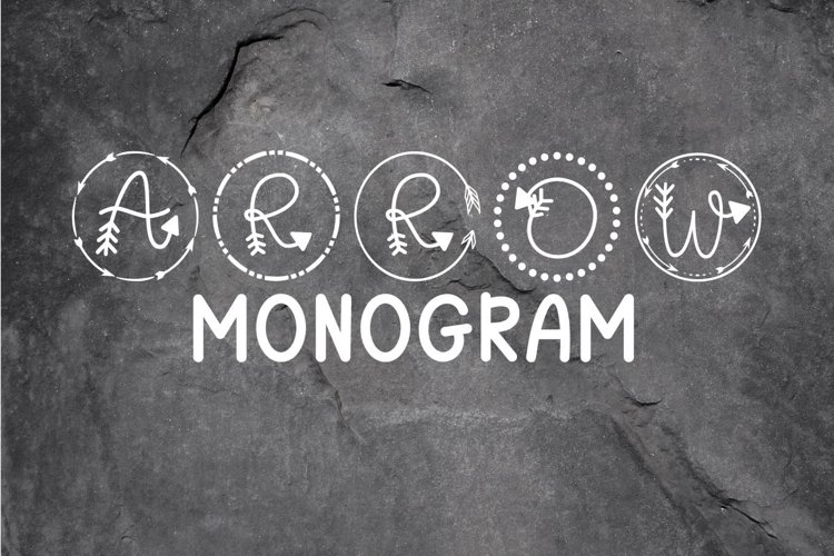 Arrow Monogram A Hand-Lettered Monogram Font example image 1