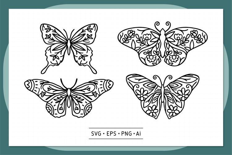 Butterfly Hand drawn - 0003 example image 1