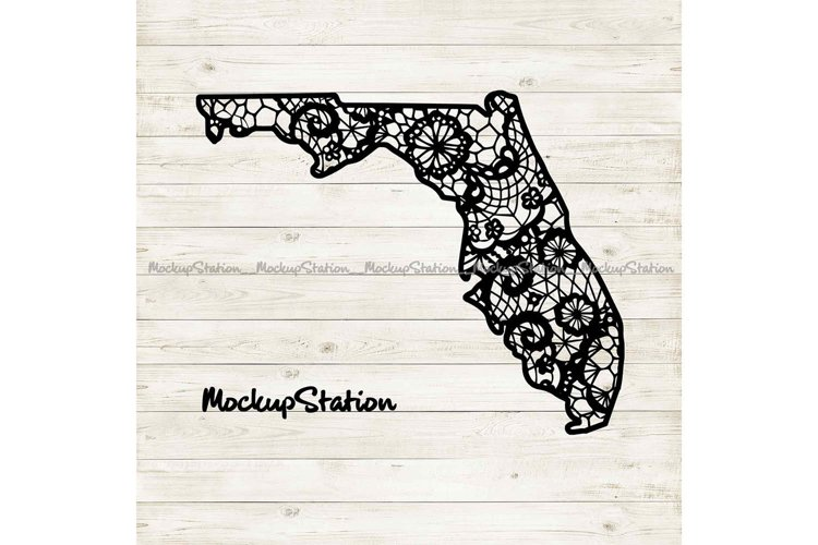 Florida Mandala SVG, Florida Floral Paisley PNG State Vector example image 1