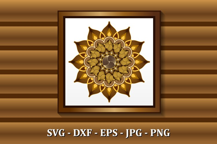 Mandala SVG files, 3D layered mandala, files for DIY craft example image 1