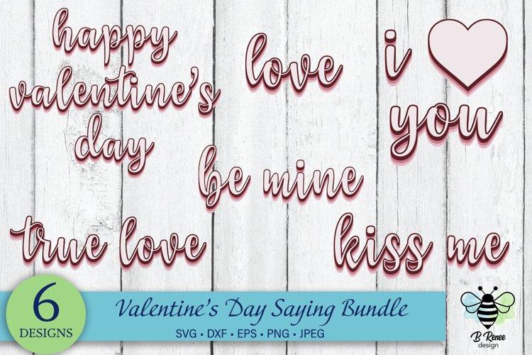 Valentine's Day Saying SVG Bundle | Retro SVG Sayings example image 1
