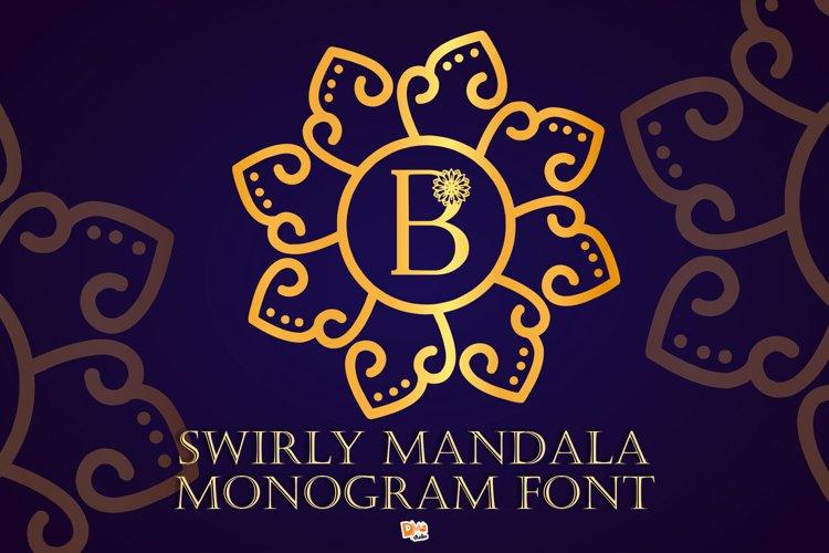 Swirly Mandala Monogram Font example image 1