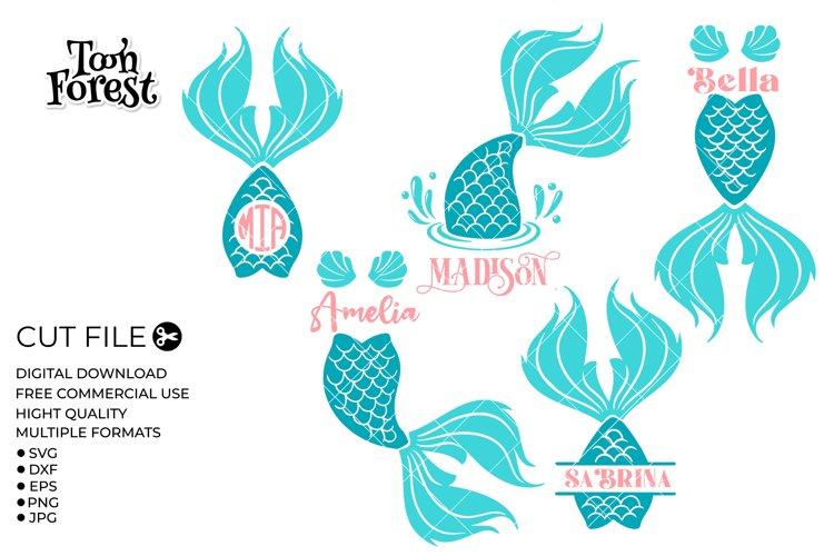 Mermaid Monogram svg   Mermaid svg   SVG, DXF, EPS, and PNG