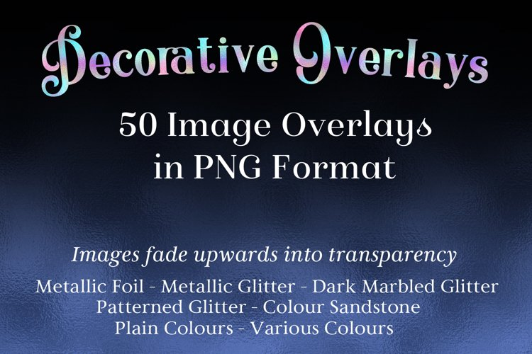 Decorative Overlays - 50 Image Overlays in PNG Format example image 1
