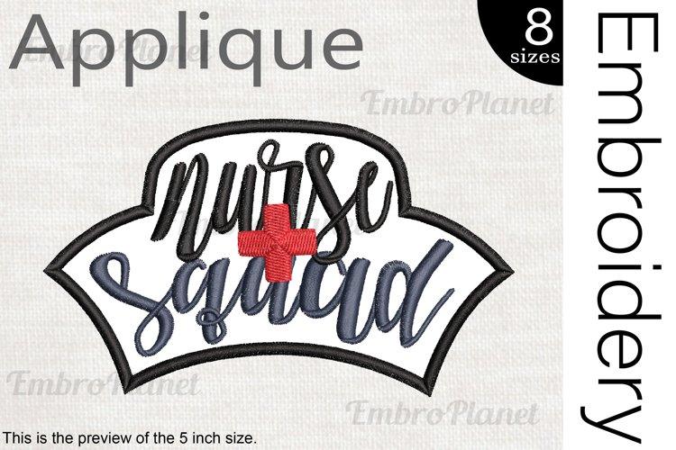 Nurse Squad Applique - Embroidery Files - 1498e example image 1