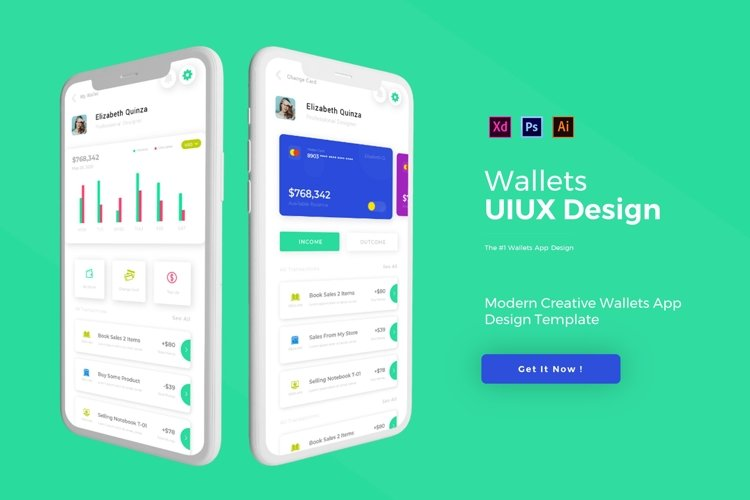 Wallets | App Template example image 1