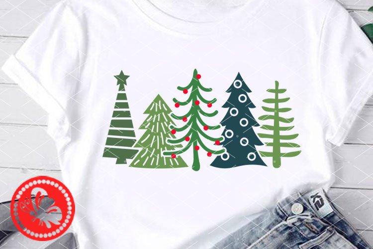 Christmas Tree svg Home decor ornaments Cricut downloads Pdf example image 1