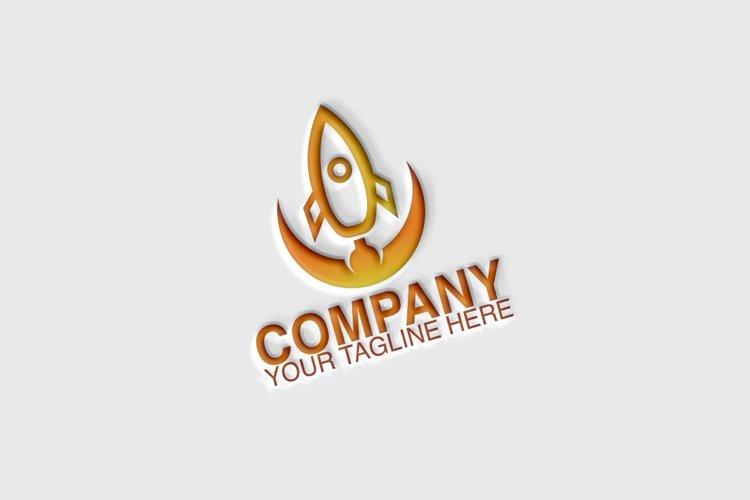 Circle Rocket Logo example image 1