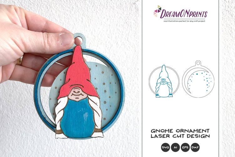 Christmas Gnome Ornament Laser Cut Files example