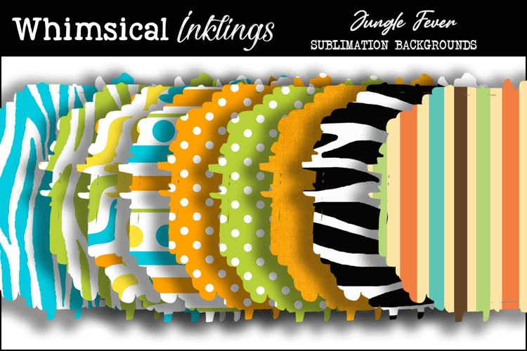 Jungle Fever Sublimation Backgrounds Pack example image 1