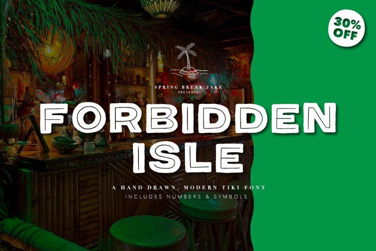 Forbidden Isle Modern Tiki Font example image 1