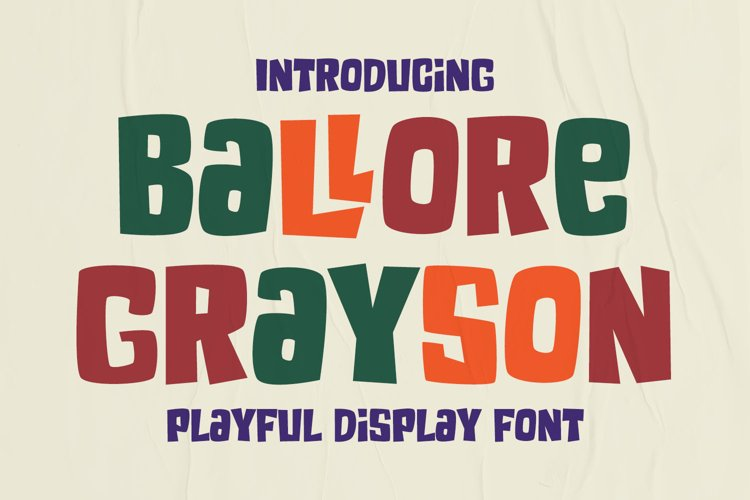 Fun Display Font - Ballore Grayson example image 1