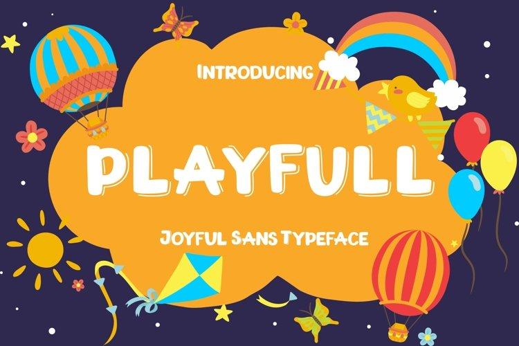 Playfull Joyful Sans example image 1
