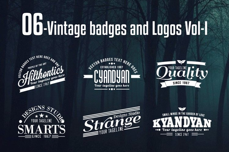 Vintage Badges and Logos Vol-1