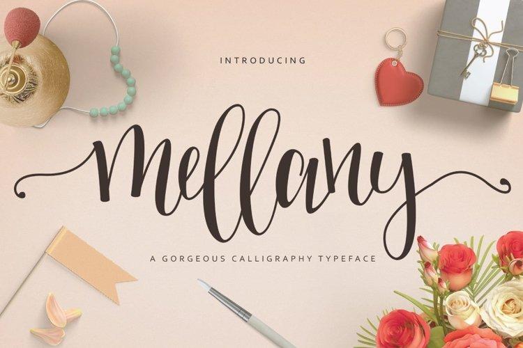 Web Font Mellany Typeface example image 1