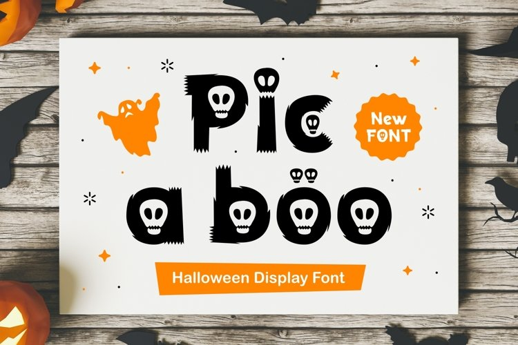 Pic A Boo - Halloween Display Typeface example image 1