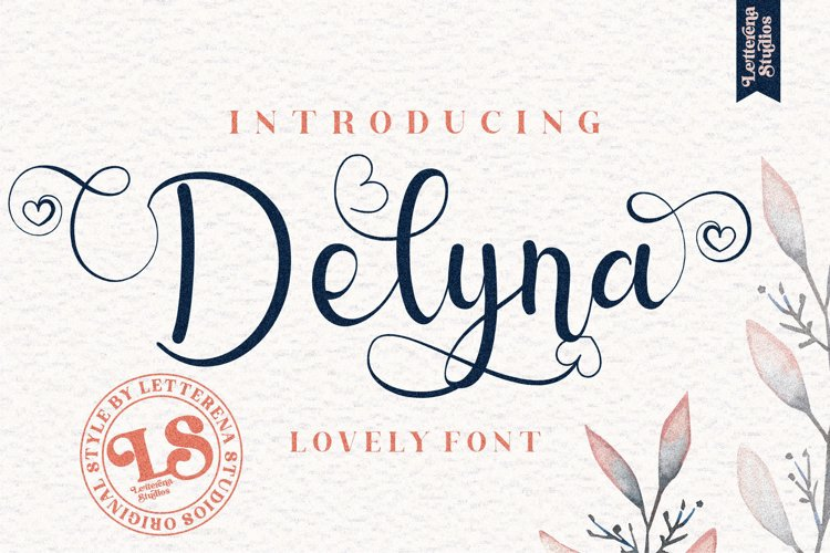 Delyna - Beautiful Lovely Script Font example image 1