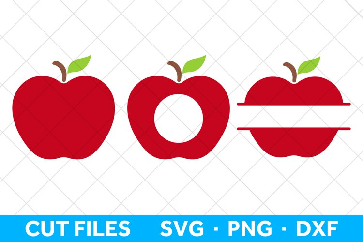 Apple SVG File for Cricut and Silhouette, Apple SVG Bundle