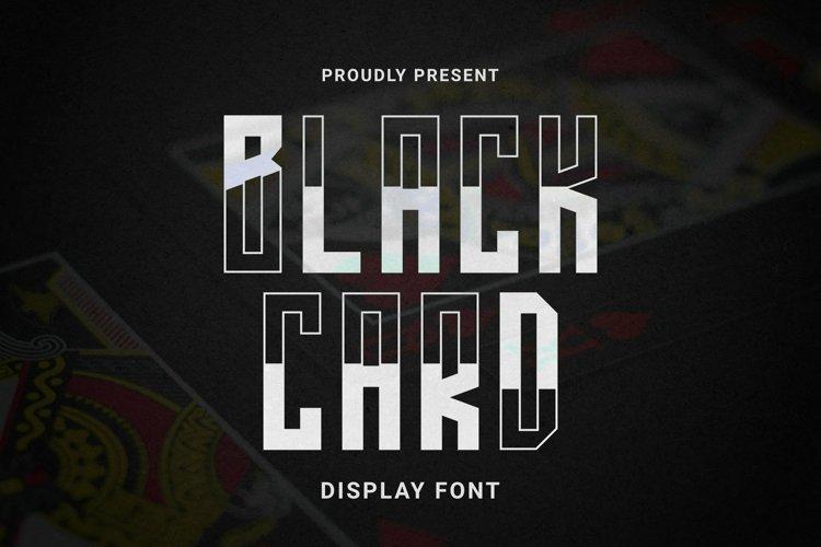 Web Font BLACKCARD Font example image 1