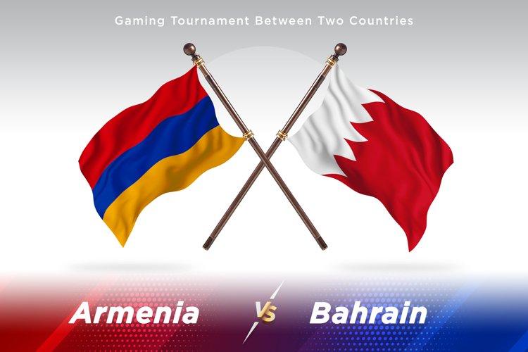 Armenia vs Bahrain Two Flags example image 1