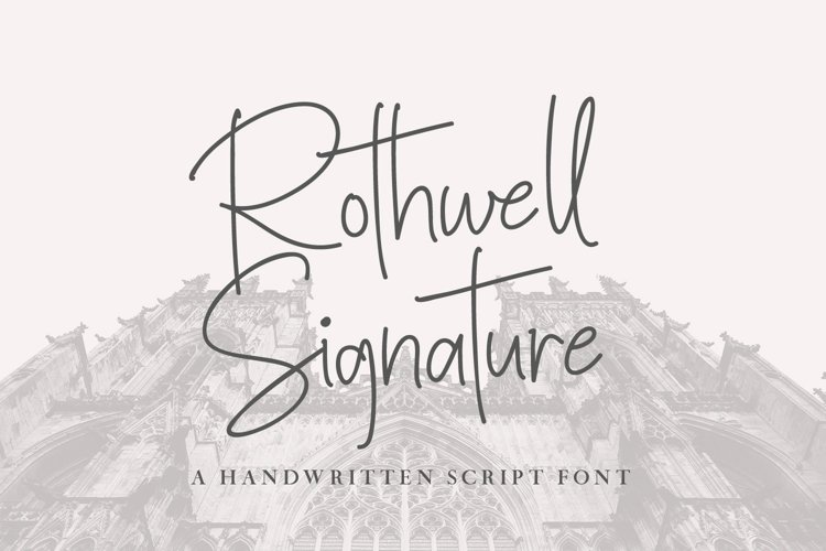 Rothwell Signature example image 1