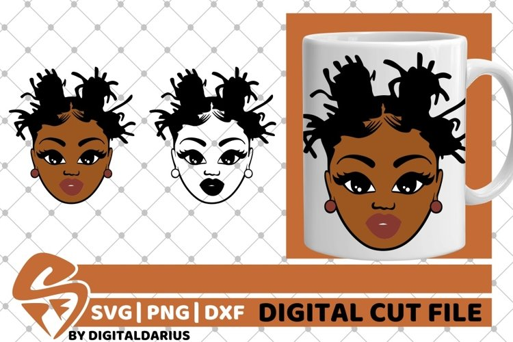 Melanin svg, Dreadlocks svg, African American, Natural Hair example image 1