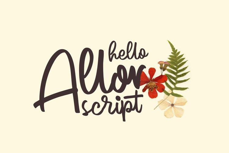 Allor Script example image 1