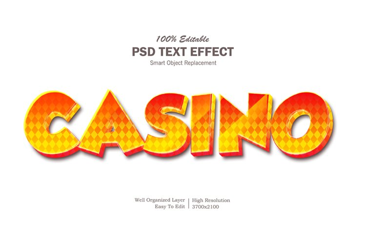Casino Text Effect example image 1