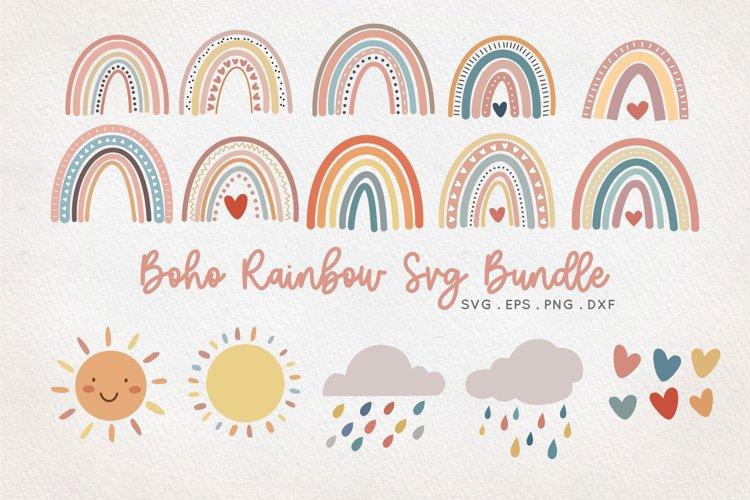 Boho Rainbow SVG bundle - png dxf eps example image 1