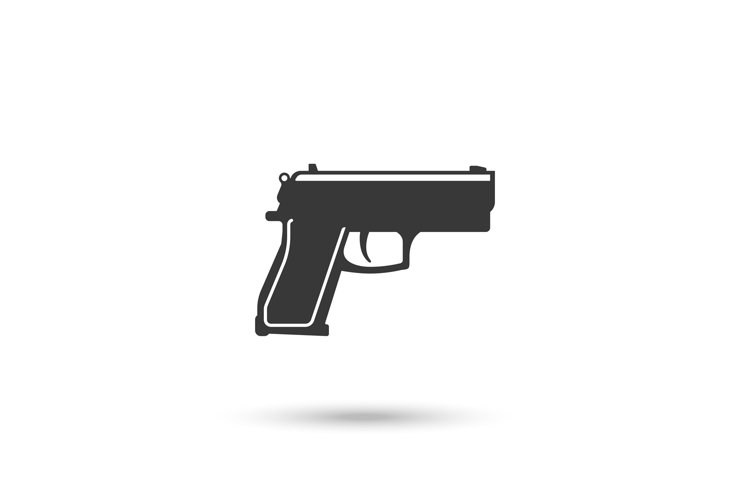 Pistol or hand gun icon example image 1