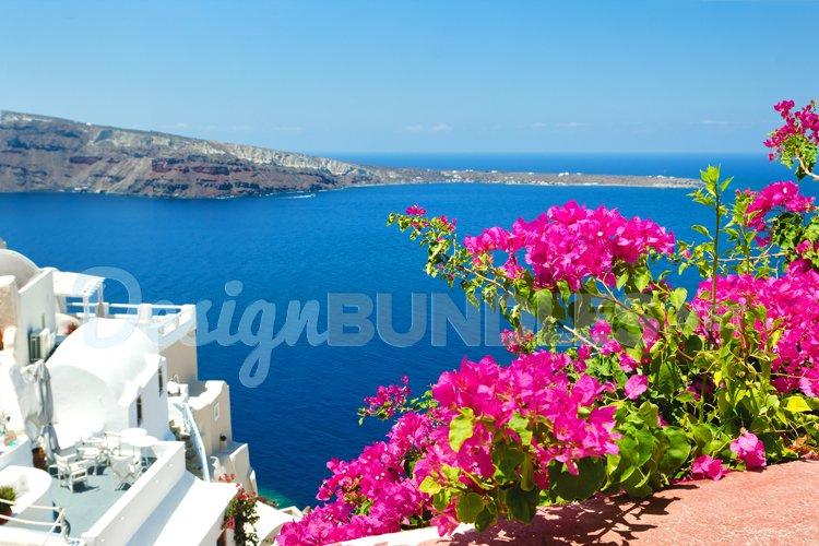 Santorini Oia Greece island postcard example image 1