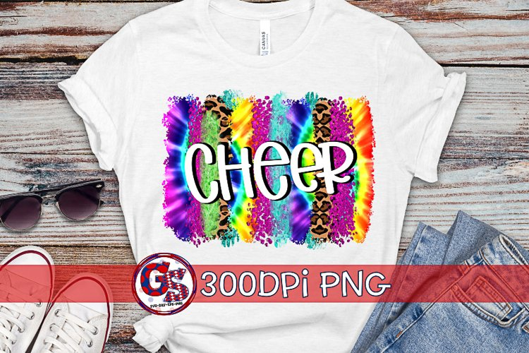 Cheer Tie Dye Brush Strokes PNG For Sublimation