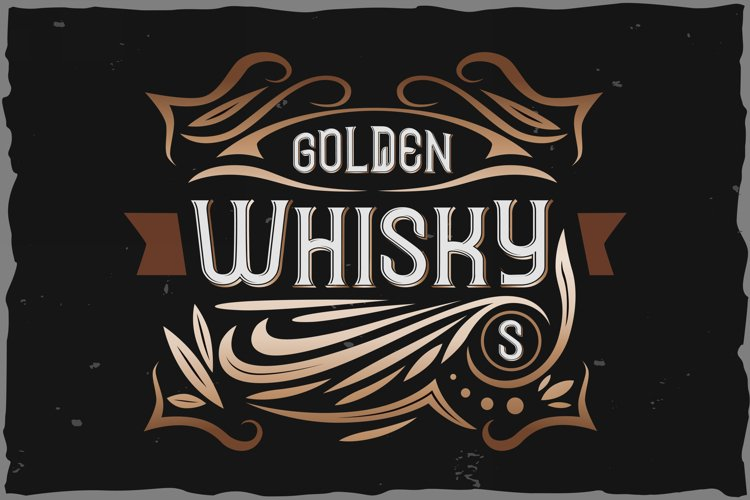Golden Whisky typeface