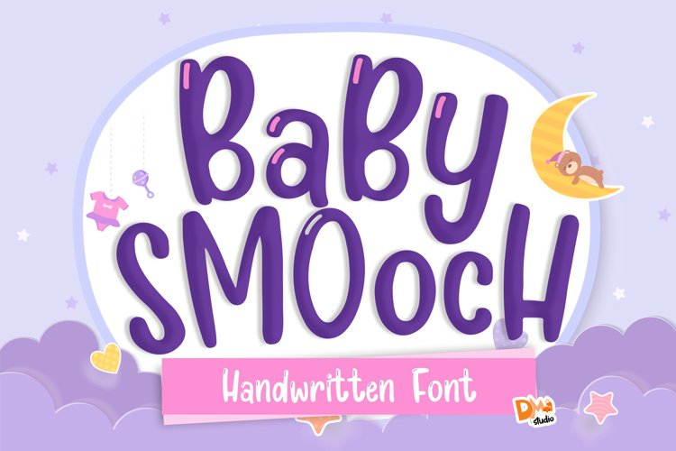 Baby Smooch - Handwritten Display Font example image 1