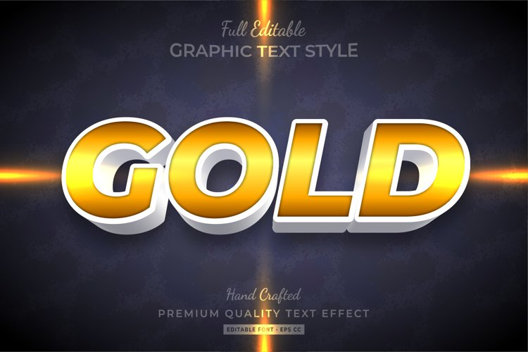 Gold Text Style Effect Premium example image 1